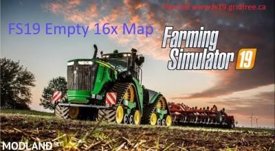 FS19 16x empty map v 1.0
