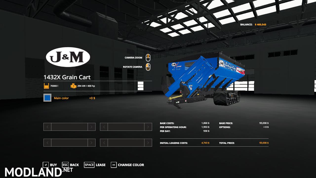 J&M 1432X Grain Cart