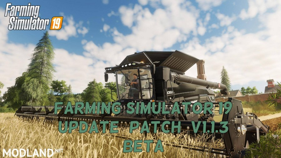 FS 19 Update (patch) v 1.1.3 Beta