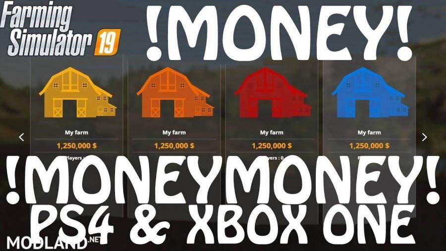 Money Cheat on PS4 & Xbox One