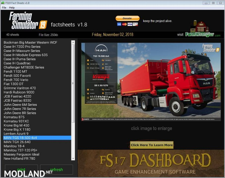 FS19 Factsheets Software