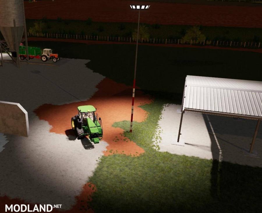 Large Farm Lights with Shadows