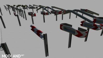 Crash Barriers A Profil Set (Prefab) v 1.0