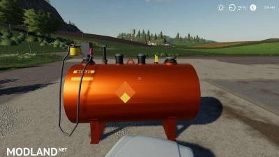 Diesel tank placeable