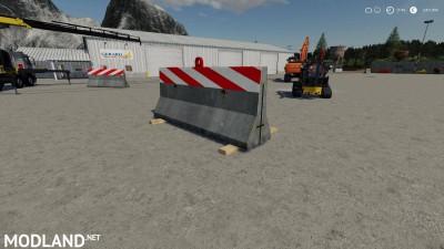 Dynamic Concrete Road Barrier Red v 1.0