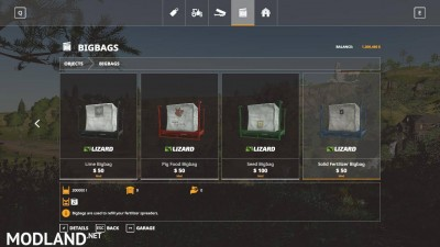 Big Bags and Tanks v 1.0
