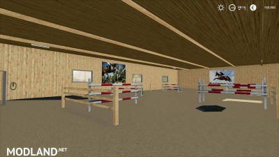 Horse stable with riding hall v 1.0, 4 photo