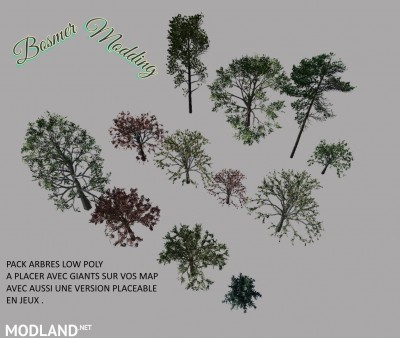 Pack Arbres low poly v 1.0, 1 photo