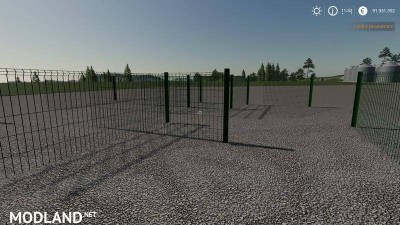 Plain metal fence can be placed v 1.0, 3 photo
