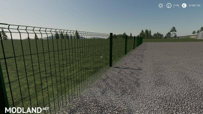 Plain metal fence can be placed v 1.0, 4 photo