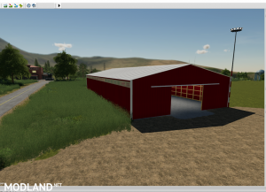 72X150 Red Storage shed prefab.