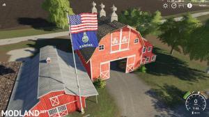 USA above Kansas State Flag v 1.0.1