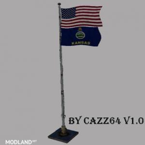 USA above Kansas State Flag v 1.0.1, 2 photo