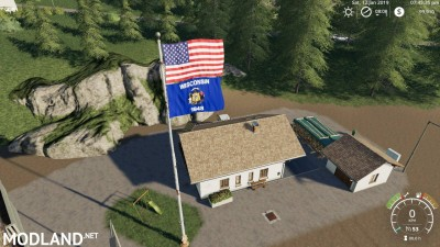 USA above Wisconsin State Flag v 1.0, 1 photo