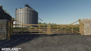 WOODEN GATES FENCES AND STONE WALLS