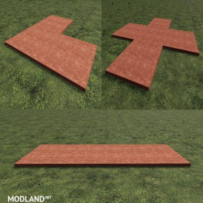 FS 19 Red Placeable Slabs v 1.0, 1 photo