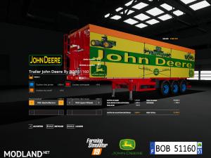 FS 19 Pack Trailer John Deere By BOB51160 V 1.0, 5 photo