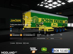FS 19 Pack Trailer John Deere By BOB51160 V 1.0, 6 photo