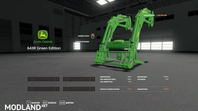 John Deere 6R + 643R Green + Black Pack v 1.0, 5 photo