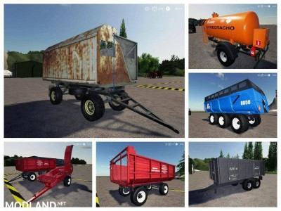 Pack trailers for tractor v 1.0, 1 photo