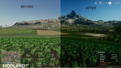 Better graphics FS 19 - Shadermod v 2.0, 1 photo