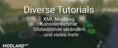 Diverse Tutorials - XML Modding and more v 1.0, 1 photo