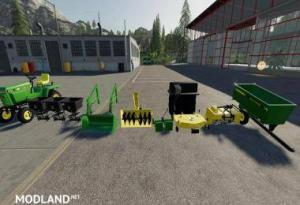 JOHN DEERE 332 LAWN TRACTOR WITH LAWN MOWER AND GARDEN v 2.0, 1 photo