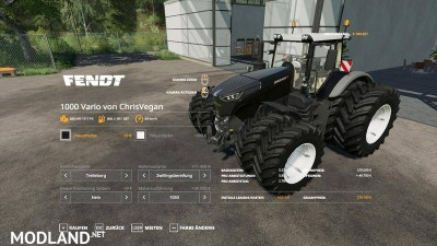 Fendt 1000 Vario Color Collection v 1.0, 1 photo