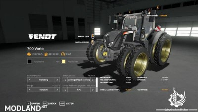 Fendt 700 Vario By Contractor Westfalen LS19 v 1.0, 2 photo