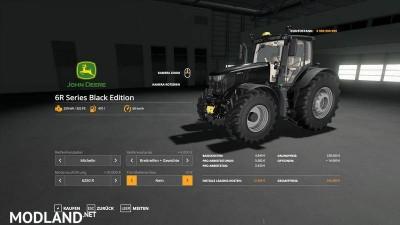 John Deere 6R Black + Green Edition v 1.0.4, 8 photo