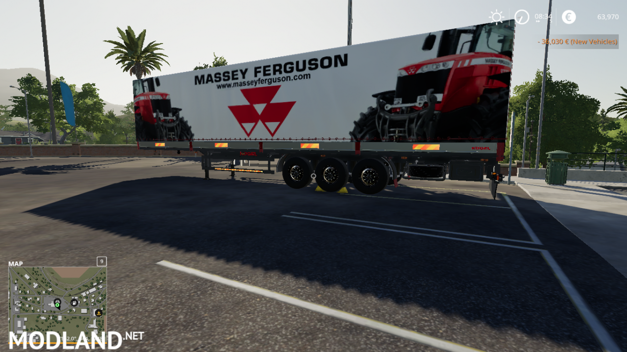 FS 19 MASSEY FERGUSON AUTOLOADER TRAILER