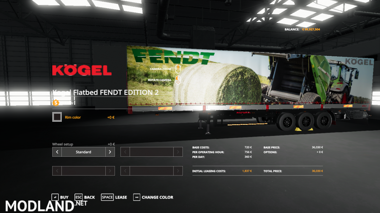 FENDT EDITION 2 KOGEL AUTOLOADER TRAILER