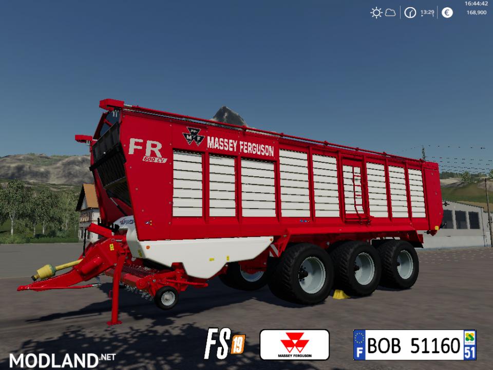 FS19 Massey Ferguson FR600CV by BOB51160