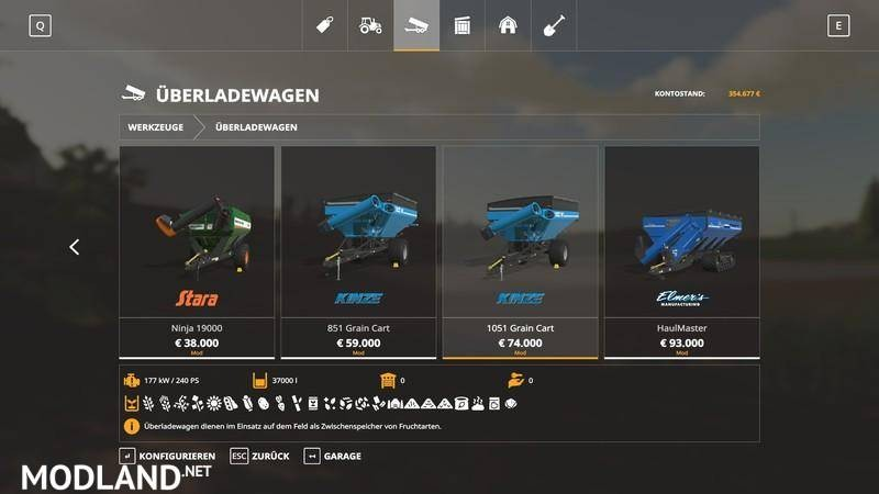 Transfer cart pack all crops