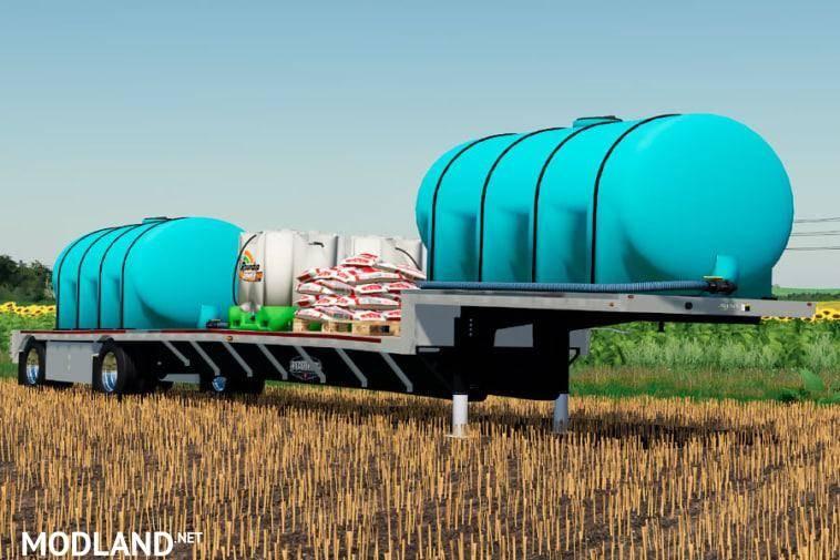 Wilson Step-Deck Fertilizer trailer