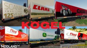 FS 19 MEGA KOGEL TRAILERS PACK - External Download image