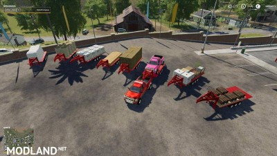 2014 Pickup with semi-trailer and autoload v 1.9, 1 photo