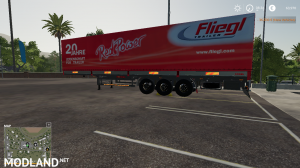 FS 19 RED POWER FLIEGL AUTOLOADER TRAILER, 1 photo