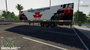 FS 19 MASSEY FERGUSON AUTOLOADER TRAILER, 1 photo