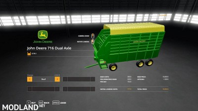 John Deere 716 Dual Axle Forage Box v 1.0