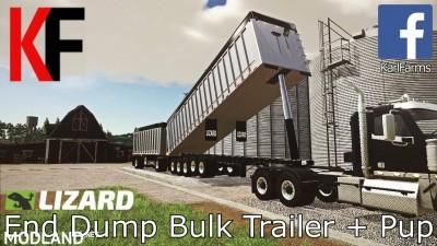 Lizard End Dump Bulk Trailer + Pup Trailer v 1.0, 1 photo