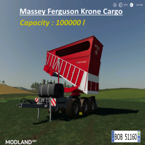 FS 19 MASSEY FERGUSON KRONE CARGO v 1.0.0.1 - Direct Download image