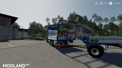 Trailer 3 axle with platform for Scania S580 truck v 1.0, 2 photo