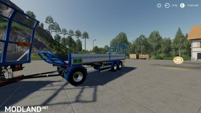 Trailer 3 axle with platform for Scania S580 truck v 1.0, 3 photo