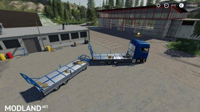 Trailer 3 axle with platform for Scania S580 truck v 1.0, 4 photo