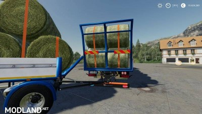 Trailer 3 axle with platform for Scania S580 truck v 1.0, 6 photo