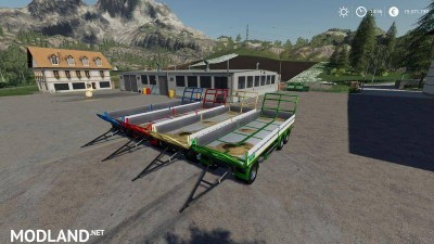 Trailer 3 axle with platform for Scania S580 truck v 1.0