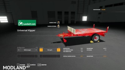 Trailer pack Universal 1 Achs Kipper v 1.0, 1 photo