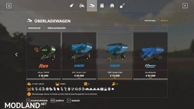 Transfer cart pack all crops v 1.0
