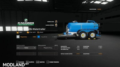 Zunhammer milk water trailer v 1.0, 5 photo
